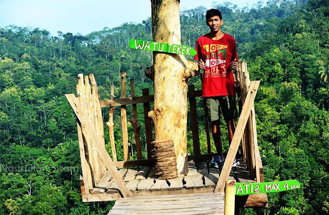 Berfoto di Spot Gardu Pandang Watu Tekek, Kulon Progo