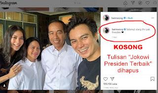 Usai Diserbu Warganet, Baim Wong Tak Jadi Sebut Jokowi Presiden Terbaik