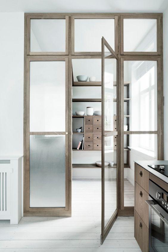 Binnenkant wat mooi zijn deze binnendeuren met glas - Scheiding houten ...
