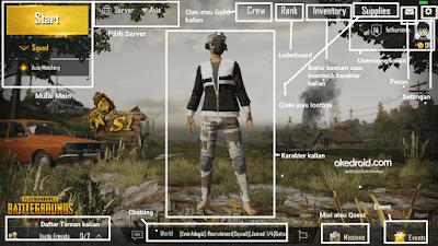 Tampilan awal menu utama di Game PUBG Mobile