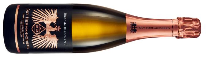 Winzersekt  Blanc de Blanc 2013 vom Weingut Gut Hermannsberg aus Niederhausen an der Nahe.