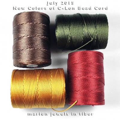 New Colors of C-Lon Bead Cord
