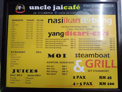 menu uncle jai cafe