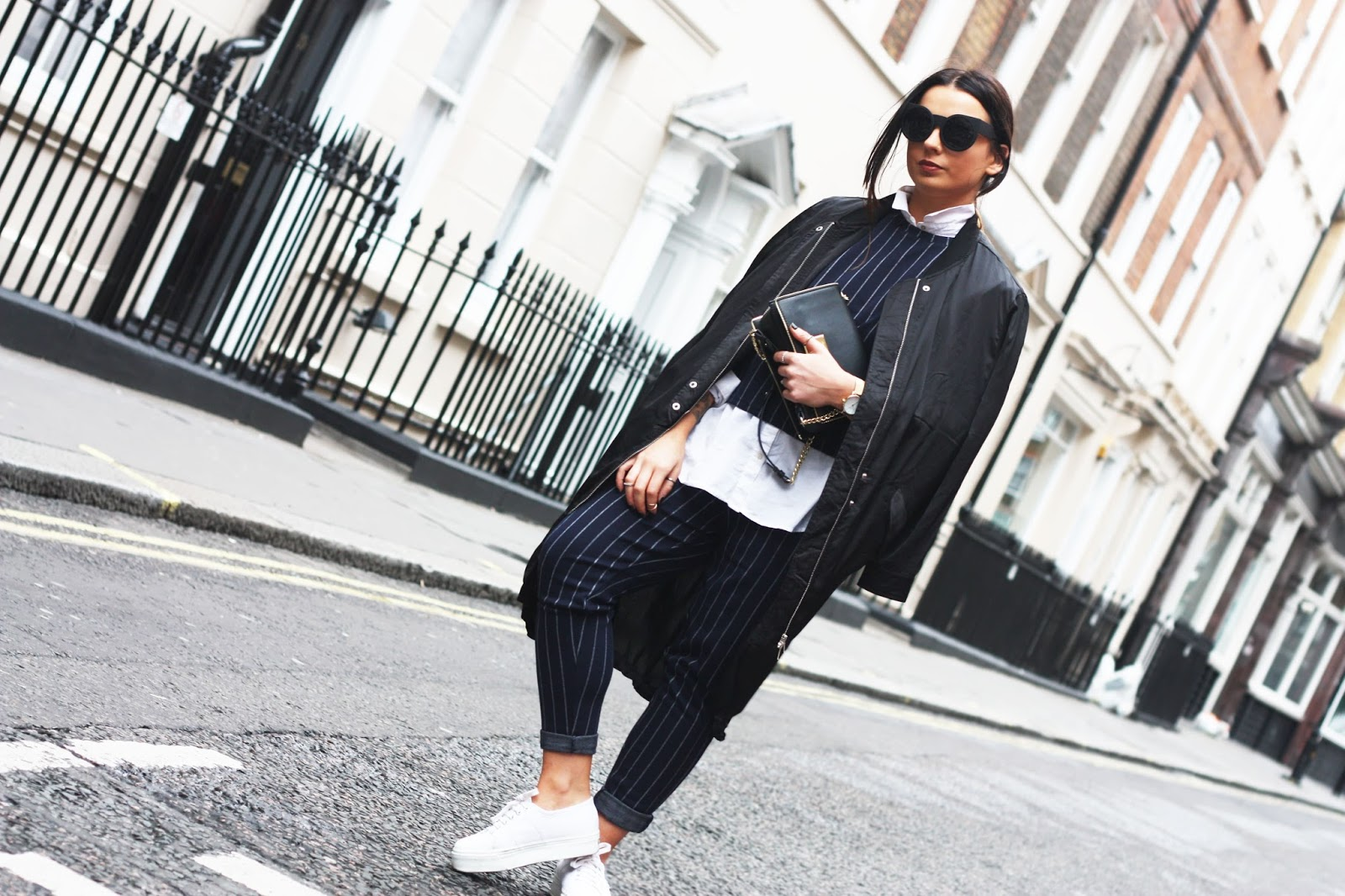 66864aad85 By far my fave look from London Fashion Week, I picked up this beaut  Pinstripe Co-ord from Native Youth a few weeks back and couldn't wait to  wear it.