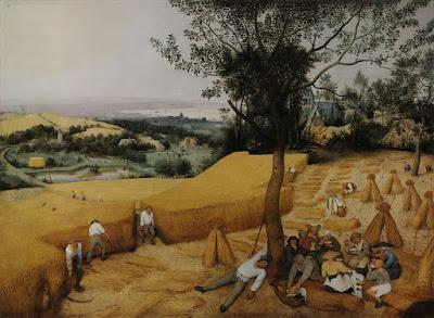"""The Harvesters"" (1565): pintura de Pieter Brueghel (1526/1530 - 1569) exposta no Metropolitan Museum of Art em Nova York."