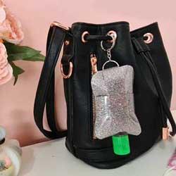Mini Hand Sanitiser pouch holder DIY free pattern