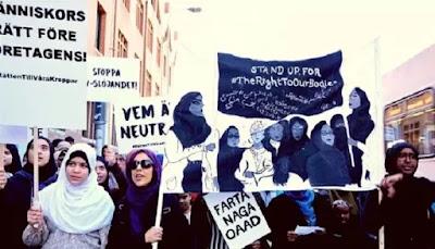 Ketika Para Buruh Muslimah di Swedia Memperjuangkan Hak Berjilbab