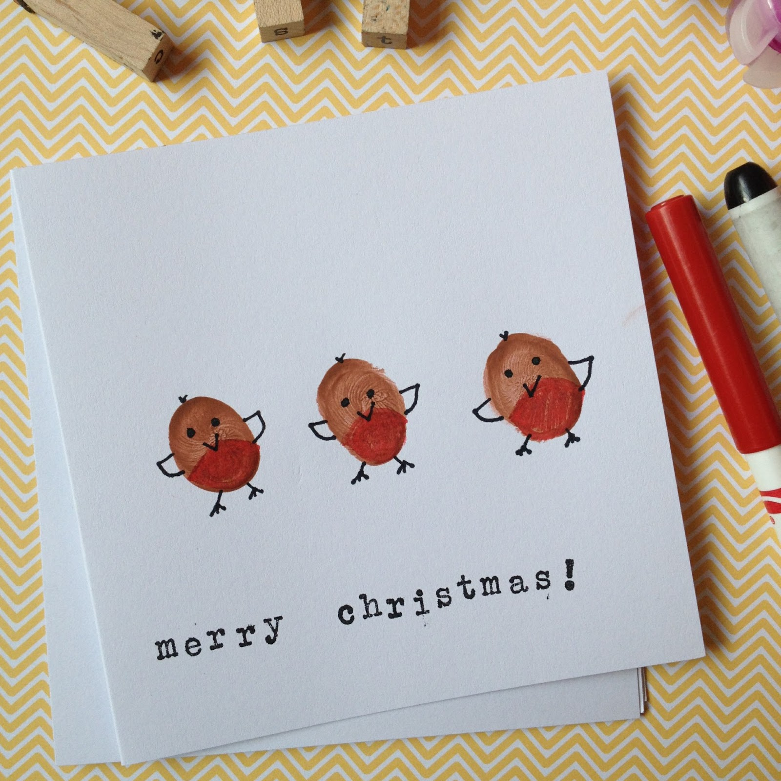 My Two Girls: Red Robin Christmas Cards