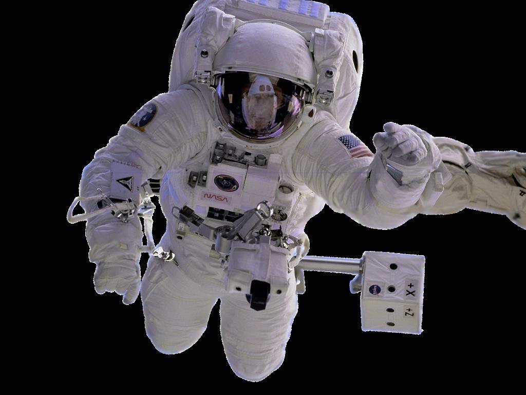 Astronauta Flotando En El Espacio Exterior: Espacio Exterior