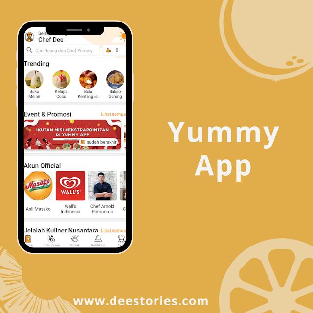 Aplikasi  Masakan Yummy App