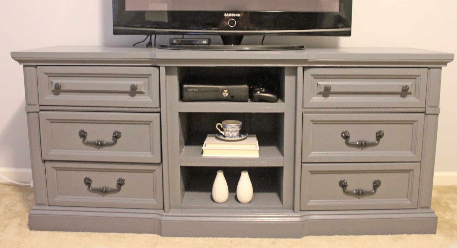 TRANSFORMING A DRESSER INTO A TV STAND - The Monogrammed Life