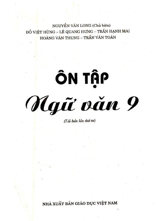 Ôn tập Ngữ Văn 9 – Nguyễn Văn Long