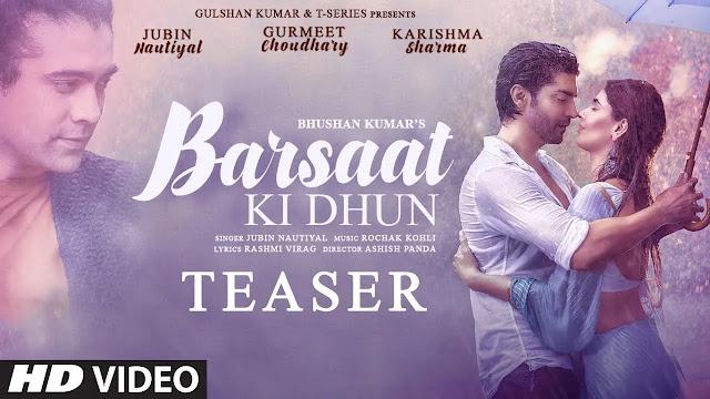 01- Jubin Nautiyal : Barsat Ki Dhun - Mp3 Song Download -320kbps - Lyrics  in Hindi, English
