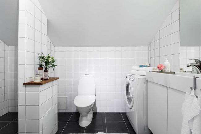 Lavadora integrada en el baño
