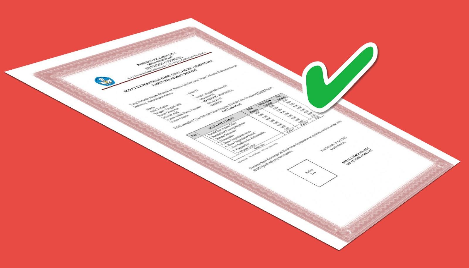 Contoh Blanko Ijazah 2017 Format Word dan Excel