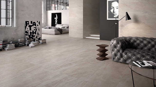 Tiles for floor design Ecostone collction - Fine porcelain stoneware