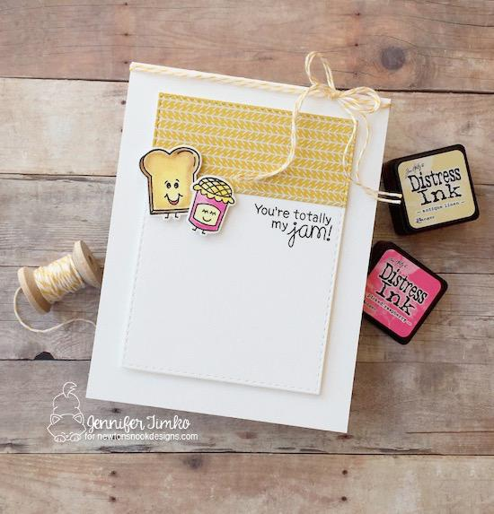 You're my Jam card by Jennifer Timko | Love Bites Stamp Set by Newton's Nook Designs #newtonsnook #handmade