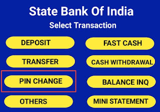 atm card ka pin change kaise kare
