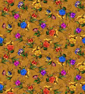 floral water colour textile repeat 7049