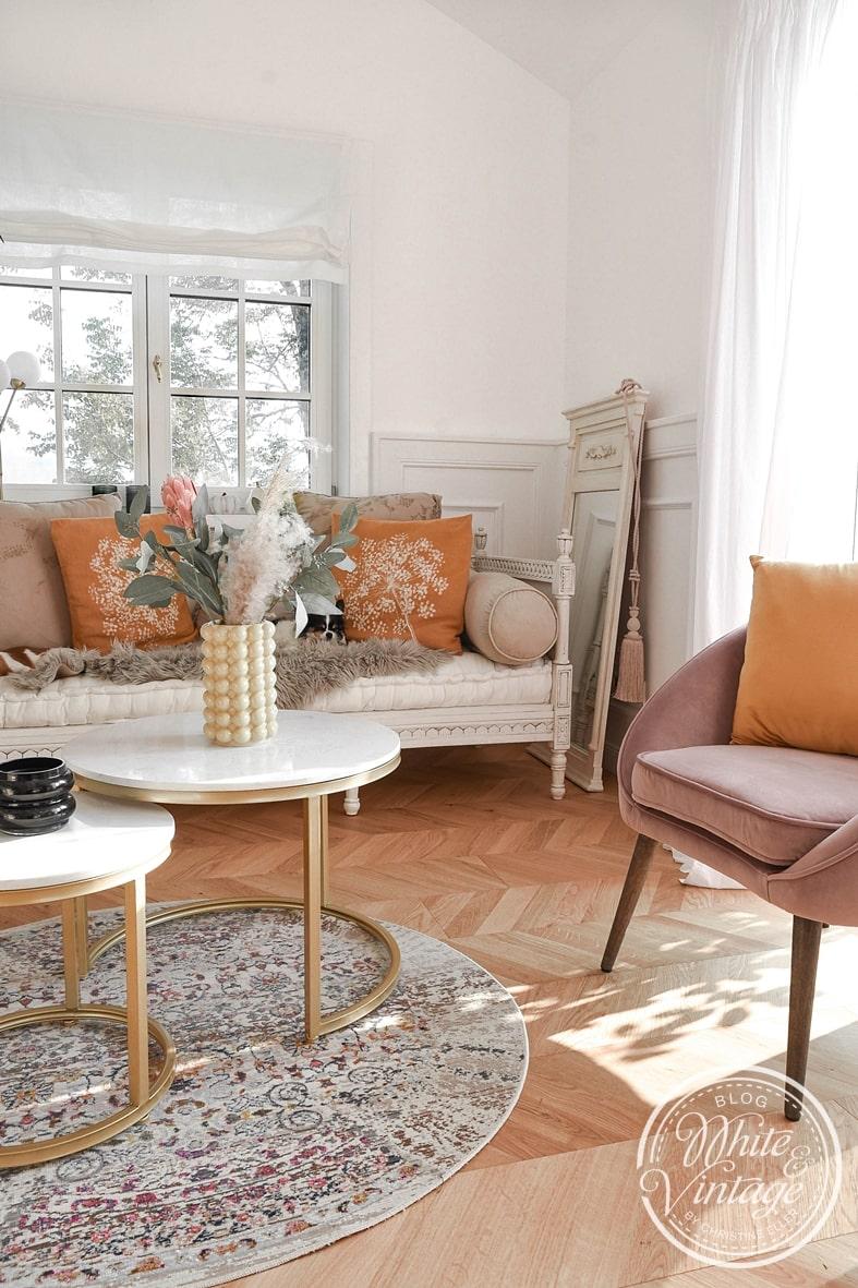 Herbstliche Farben fürs Wohnzimmer