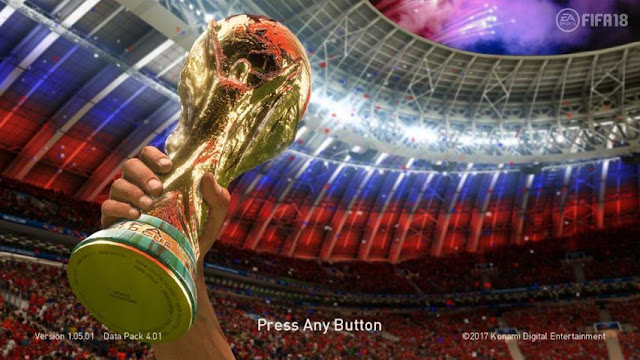 Trophy WC 2018 Start Screen PES 2018