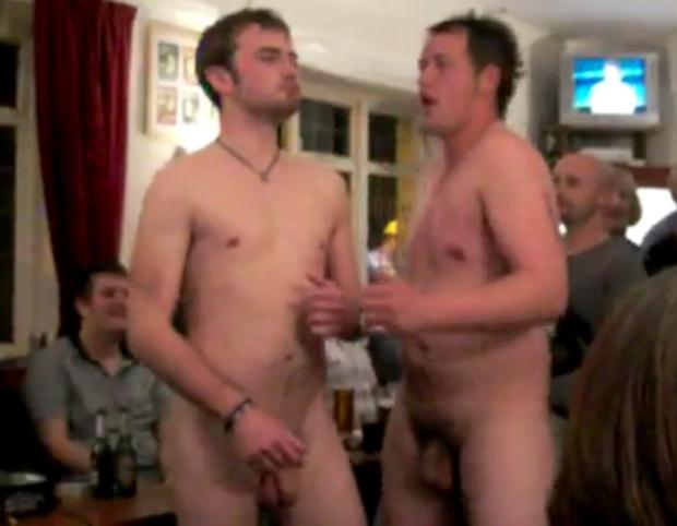 naked guys in bar