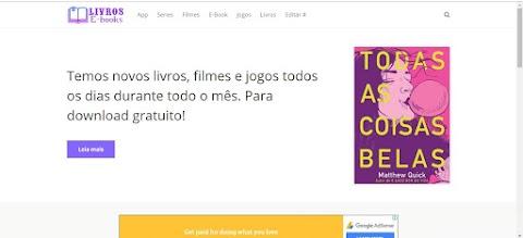 E-Book Filmes Livros Blogger Template Responsive