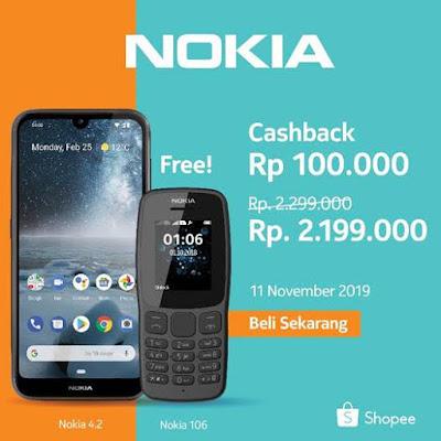 Promosi pembelian Nokia 4.2 di Shopee