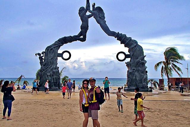 Playa del Carmen's main beach...