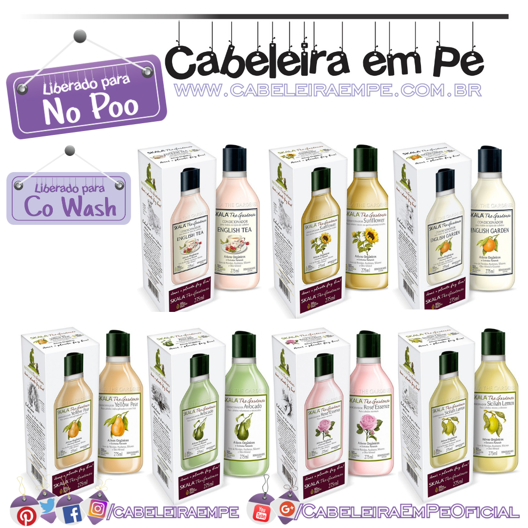Condicionadores Veganos - Skala The Gardener (No Poo e Co Wash)