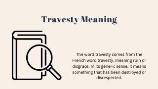 Travesty Meaning