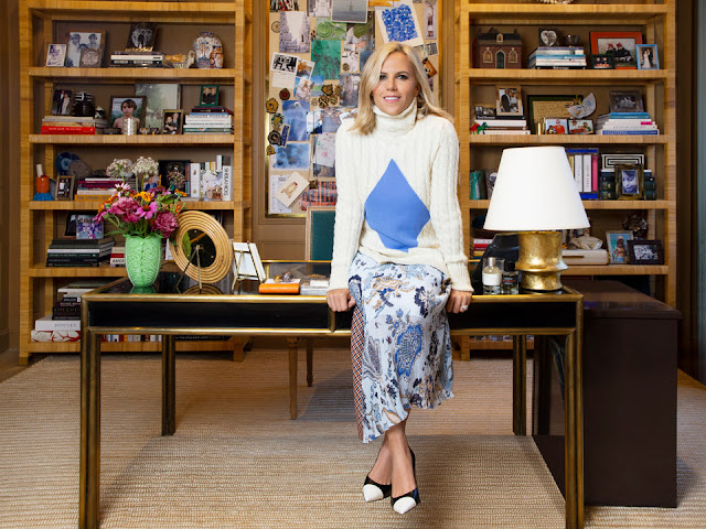 Tory Burch in her office