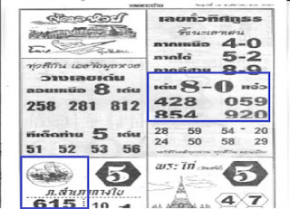 Thai Lottery First Magazine For 16-11-2018