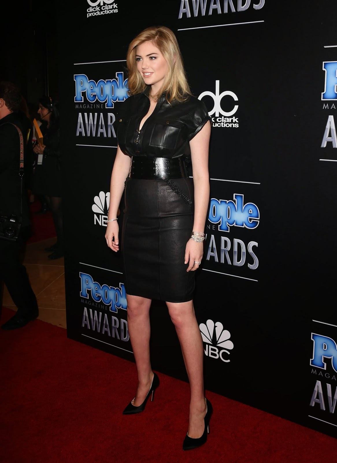 Lovely Ladies In Leather Kate Upton In A Leather Dress