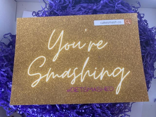 You're Smashing Cake Smash card