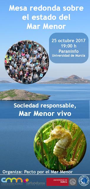 "Mesa redonda: ""Sociedad responsable, Mar Menor Vivo""."