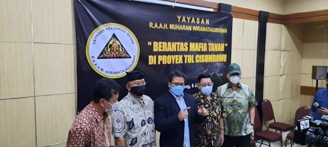 "Yayasan R.A.A.H Muharam Wiranatakusumah Angkat Bicara, Minta Penegak Hukum Tegas ""Berantas Mafia Tanah di Proyek TOL CISUMDAWU"""