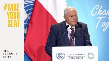 David Attenborough στον ΟΗΕ : Η κλιματική αλλαγή απειλεί την ασφάλεια της ανθρωπότητας