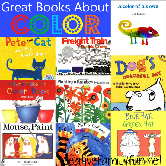 Creative Family Fun Story Time Great Books About Color