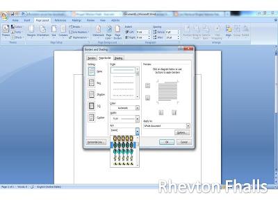 cara membuat garis bingkai di microsoft word 2010