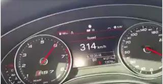 شاهد بالفيديو  سائق يصور قيادته الجنونية بسرعة 314 كم/س