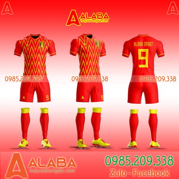 Áo bóng đá màu đỏ tự thiết kế