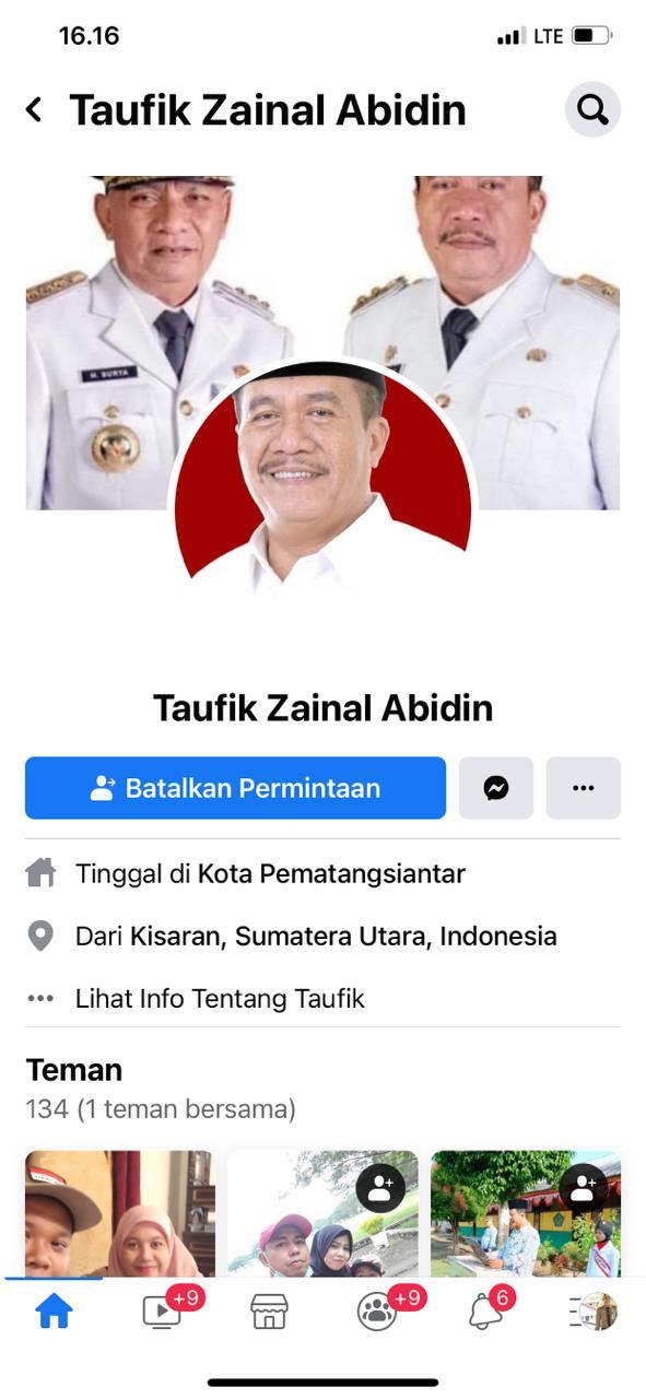 Beredar Akun Palsu Facebook Menggunakan Profil Wakil Bupati Asaha Taufik Zainal Abidin, Masyarakat Diminta Hati-Hati