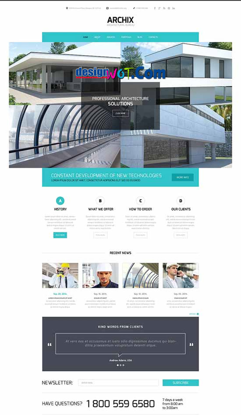 ARCHIX Responsive HTML WordPress Template