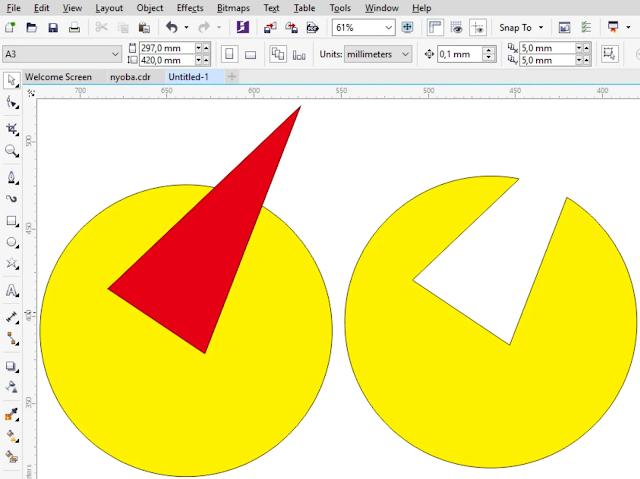 Cara Mudah Memotong Objek Di CorelDraw Dengan Shaping Tools