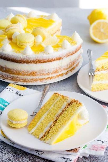 Lemon Layer Cake with Lemon Swiss Meringue Buttercream