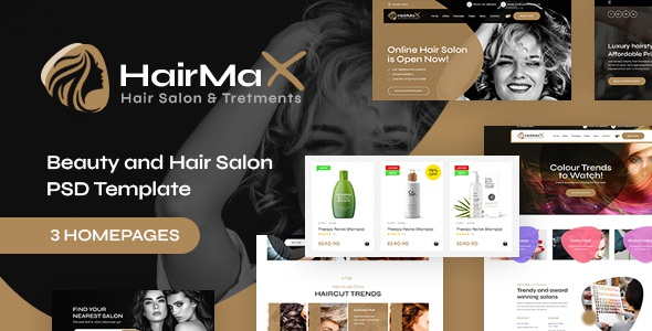 Best Beauty and Hair Salon PSD Template
