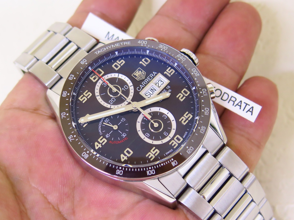 TAG HEUER CARRERA CHRONOGRAPH DAY DATE - BROWN DIAL CERAMIC BEZEL - AUTOMATIC CALIBRE 16