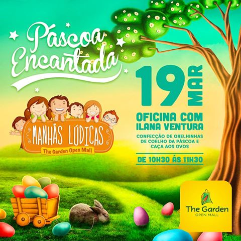 Páscoa encantada no The Garden Open Mall