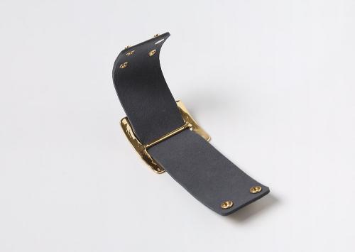 Buckled Leatherette Bracelet